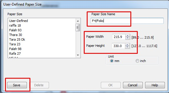 Cara Menambahkan Ukuran F4 (Folio) Pada Printer Epson