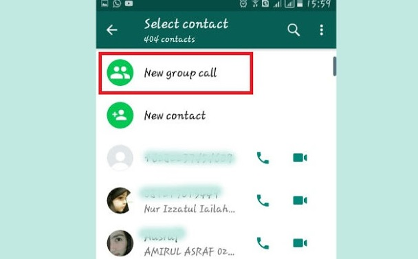 Group Call Whatsapp