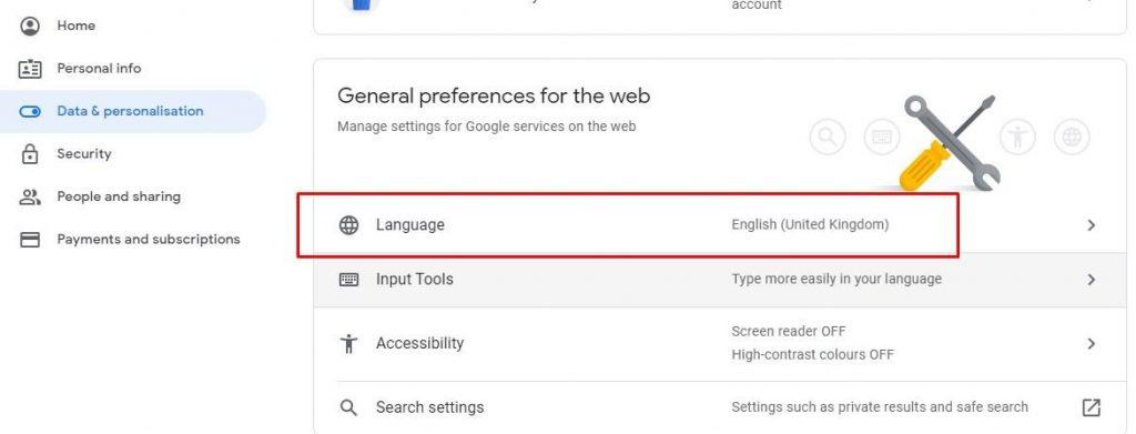 Cara mengubah bahasa Google classroom