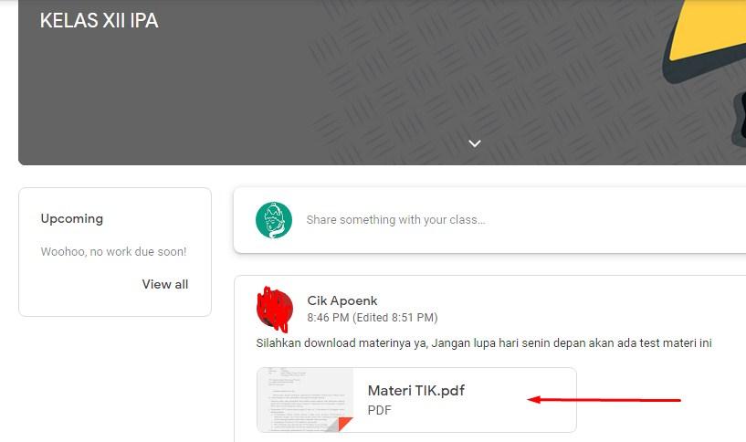 Cara Unduh File Dari Google Classroom