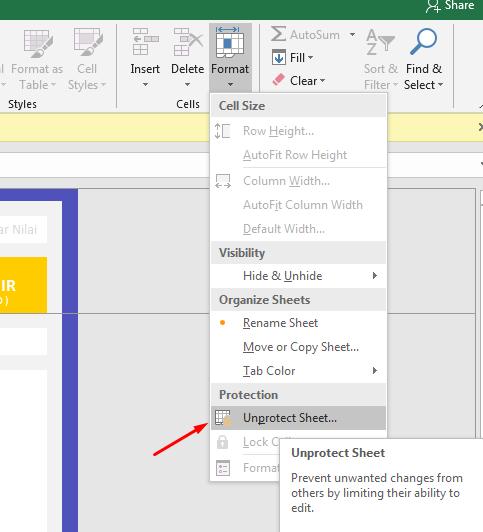 Membuka Sheet Excel Yang Diproteksi Dengan Password
